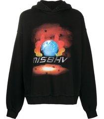 misbhv globe crystals hoodie - black
