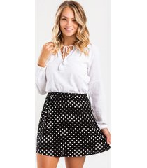 kamryn polka dot mini skirt - black