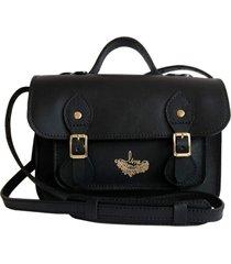 bolsa line store leather satchel mini couro preto premium.