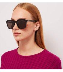 saint laurent women's square acetate sunglasses - black
