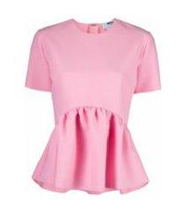msgm peplum t-shirt - rosa