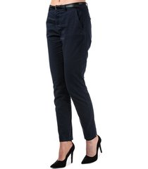 vero moda womens flash mid rise chino pants size 10l in blue