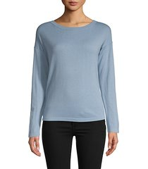classic long-sleeve cashmere sweater