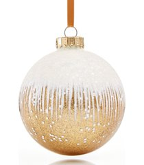 holiday lane black tie white to gold ombre ball ornament created for macy's