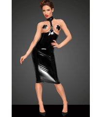noir handmade onderborst lak jurk