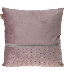 poduszka dekoracyjna z suwakiem pudrowy róż