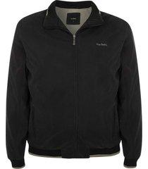 jaqueta plus size suede com manta preta - preto - masculino - dafiti