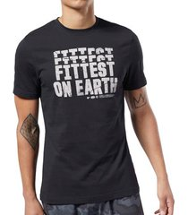 t-shirt korte mouw reebok sport crossfit fittest on earth tee ec1464