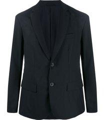 emporio armani relaxed-fit blazer - black