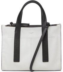 t tahari gotham leather satchel