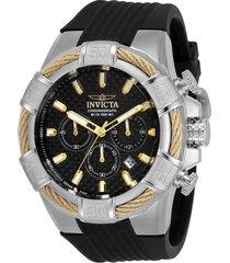 reloj invicta 28883 negro silicona, poliuretano