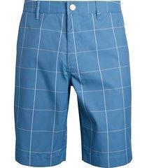 bonobos men's highland windowpane slim golf shorts - blue windowpane - size 32