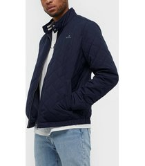 gant d1. the quilted windcheater jackor blue