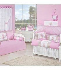 quarto completo padroeira baby amiguxos rosa
