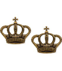 patricia nash gold-tone crest stud earrings