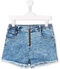 andorine zipped shorts - blue