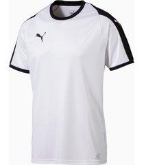 puma liga voetbaljersey , wit/zwart/aucun, maat l