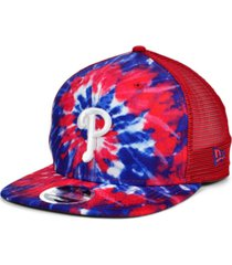 new era philadelphia phillies tie dye mesh back 9fifty cap