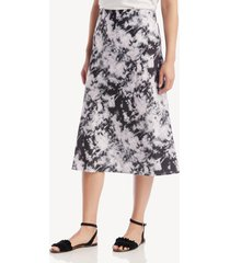 sanctuary women's every day midi skirt in color: dark tie dye size large from sole society
