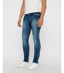 loom blue washed-jeans