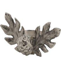 saro lifestyle pinecone design rustic style napkin ring, set of 4