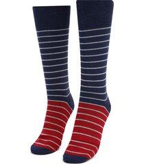 medias  rojo-azul-gris colore