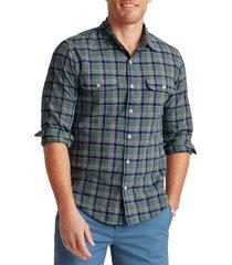 men's bonobos plaid madras button-up shirt, size xx-large - green