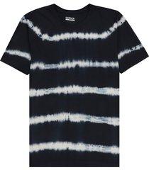camiseta azul oscuro-blanco colore