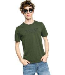 camiseta verde oliva-negra levi's