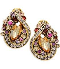 heidi daus women's goldtone & multicolored crystal cluster earrings