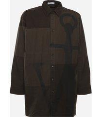 j.w. anderson cotton anchor oversize shirt
