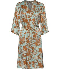 renata stencil dress jurk knielengte multi/patroon mos mosh