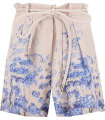 zimmermann luminous linen shorts