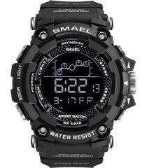 reloj hombre deportivo smael 1802 militar cronometro digital negro