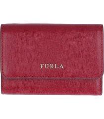 furla babylon tri-fold leather wallet