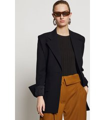 proenza schouler accented shoulder wool blazer black 2