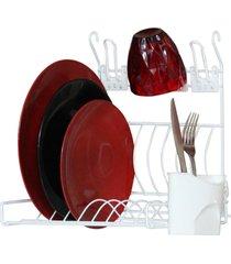 escorredor de louça, pratos - escorredor de parede para 10 pratos branco