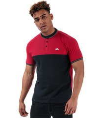 le shark mens miles panel polo shirt size m in red