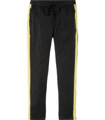 pantaloni elasticizzati con bande laterali slim fit straight (nero) - rainbow