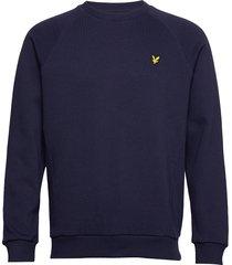 raglan pique sweatshirt sweat-shirt trui blauw lyle & scott