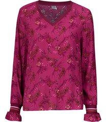 blus floral leopard print