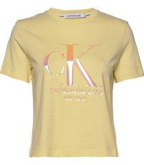 iridescent ck straight tee t-shirts & tops short-sleeved gul calvin klein jeans