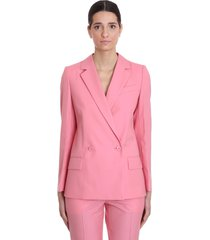 givenchy blazer in rose-pink polyester