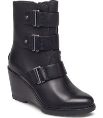 after hours bootie shoes boots ankle boots ankle boots with heel svart sorel