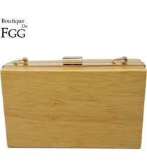 famous gold plated women wood clutch handbags metal clutches banquet prom ladies