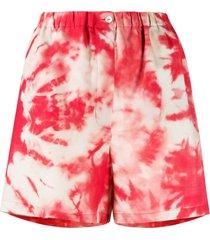 alanui tie-dye print shorts - pink
