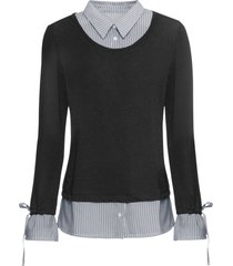 maglia 2 in 1 (nero) - bodyflirt