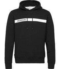 bold stripe logo hoodie hoodie trui zwart calvin klein