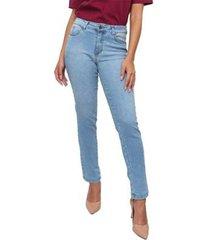 calça jeans sisal jeans cigarrete skinny delave feminina