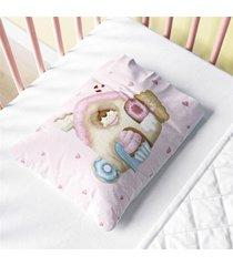 fronha beb㪠rosa casinha doce encanto estampa grã£o de gente multicolorido - multicolorido - menina - dafiti